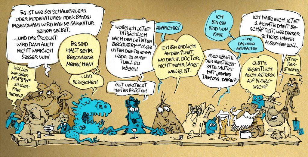 Alien-Sex-Karikaturen